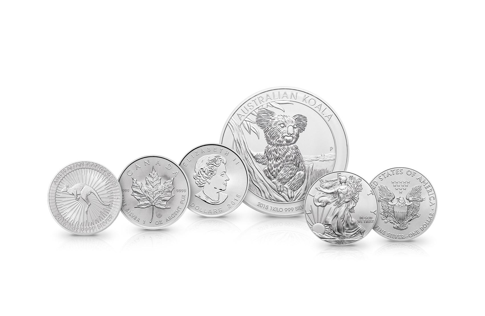 Aureto Silbermünzen